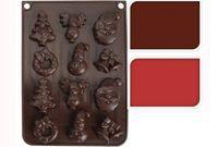 Форма силиконовая для шоколада (рождеств)