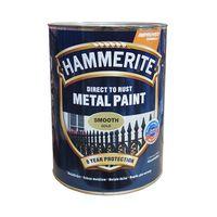 Hammerite Краска для металла Золотистая гладкая 0.75л