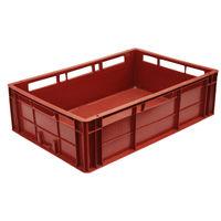купить Ящики  из пластика А107A, 600х400х170 мм без перфорации, красный в Кишинёве