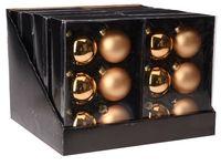 Set globuri 6X65mm, 3mate, 3lucioase, aurii, in cutie