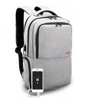 """Городской рюкзак Tigernu T-B3259 для ноутбука 15.6"""", водонепроницаемый, с USB портом, серый"""