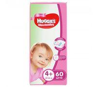Подгузники Huggies Ultra Comfort Mega 4+ Girl (10-16 kg) 60 шт
