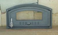Дверца чугунная со стеклом правая DCH4