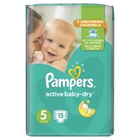 Pampers active-baby dry RC Junior 5, 15шт. 11-18кг