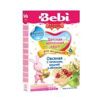 Bebi Premium каша овсяная молочная с печеньем, вишней и яблоком, 6+мес. 200г