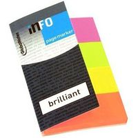 Info Notes Закладки клейкие INFO 20x50мм/4x40 листов, бумажные