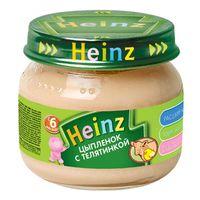 Heinz пюре цыпленок с телятинкой 6+мес. 80г