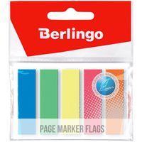 Berlingo Закладки клейкие BERLINGO 12x45мм/5x25 листов, пластик