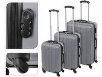 Valiza-troller 61l 60X40X24cm mediu, culoarea-metal, plastic