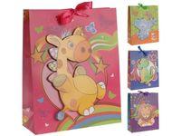 """Пакет для детских подарков """"Животное"""" 32X26X10сm"""