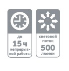 купить LED NPT-CA10-ACCU Кемпинг, 45 LED 500лм, диммер, АКБ 1.8А/ч в Кишинёве