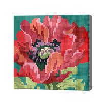 Mac viu colorat, 20x20 cm, mozaic cu diamante BJ116