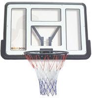 Щит баскетбольный тренировочный с кольцом и сеткой, 110x75 см, d=45 см, Spartan 1151 (3640)