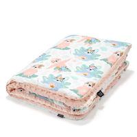 Одеялко LaMillou Yoga Candy Sloths – Powder Pink (100x80 cm)