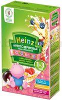 Heinz Любопышки Многозерновая каша йогуртная, слива, яблоко, малина, черникa (1-3г.)