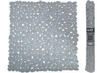 Коврик для душа 53X53cm MSV Galets серый, PVC