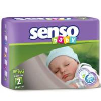 Senso Baby подгузники Mini 2, 3-6кг. 26шт