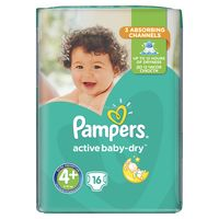Pampers active-baby dry RC Maxi Plus 4, 16шт. 9-16кг