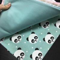 Пеленка байковая (100х80 см) панда