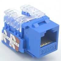 LY-KJ6-01, Keystone Jack RJ-45 Shielded Cat.6 Dual IDC Type