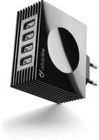 Cellularline Quad USB Charger 4A Black (ACHUSBQUAD4AK)