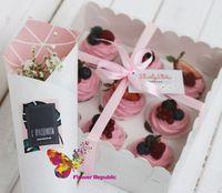cumpără Set  cadou cu cupcakes + ctuie cu flori în Chișinău