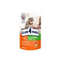 CLUB 4 PAWS PREMIUM с курицей в соусе