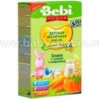 Bebi Каша молочная Premium злаки с тыквой и морковью 200 гр. (6+)