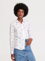 Блуза RESERVED Белый с принтом wn657-01x