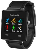 vivoactive Black Bundle  GPS Smartwatch for the Active Lifestyle with Heart Rate Monitor & Strap .    Built-in GPS-enabled running, biking and golfing plus swimming and activity tracking app