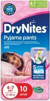Scutece-chiloţel pentru noapte Huggies DryNites 4-7 ani, fetiţă, 17-30 kg, 10 buc.