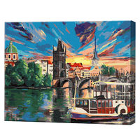 Apus în Praga, 40х50 cm, pictură pe numere Articol: GX38165