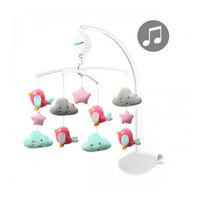 BabyOno 0626 Карусель на кроватку Clouds&Birds, музыкальная с мягкими игрушками