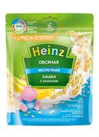 Каша Heinz Омега3 овсяная с бананом и молоком, с 6месяцев, 200г