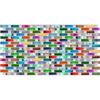 Влагостойкая панель мозаика радуга