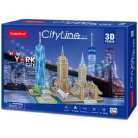 CubicFun пазл  3 D City Line New York