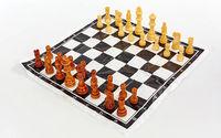 Шахматы деверяные IG-4929(h=3.5/8cm) (2200)