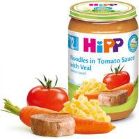 Hipp пюре лапша с телятиной в томатном соусе,12+ мес, 220 г