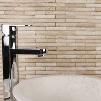Мозаика Травертин Классический Бамбук 1,5 х 7,5 см