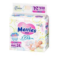 Merries Scutece Newborn, 3-5kg, 24 buc.