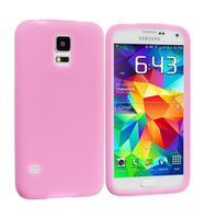 Husa de protectie silicon GO COOL pentru Galaxy S5, Pink