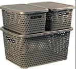 Ящик для хранения М-пластика Ротанг 23л 450х300x265мм М2371
