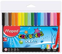 MAPED Фломастер MAPED Ocean, 18 цветов