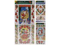 купить Наклейки новогодние на окна с глиттером 58X22.6сm в Кишинёве