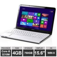 "Ноутбук Sony VAIO E SVE151G11M (15,6"" i5 3210M HDGraphics 4GB 750GB Win8) White"