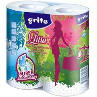 Полотенце бумажные GRITE Lilia 2 сл 1/2 белые