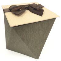 Коробка подарочная с лентой, 12x12x12
