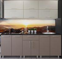 Bucătărie Bafimob Modern (High Gloss) 2.2m no glass Beige/Cappuccino