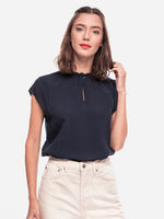 Блуза TOM TAILOR Темно синий 1021643 10360
