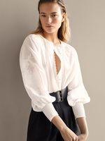 Блуза Massimo Dutti Слоновая кость 5194/590/251